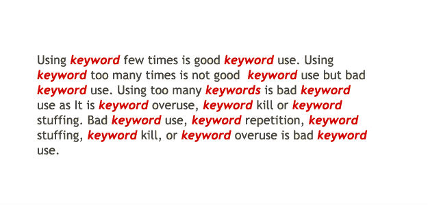 Keyword stuffing significato