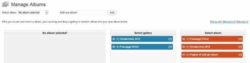Album immagini su WordPress